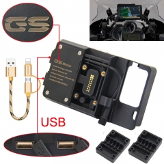 For BMW R1200GS mobile phone navigation bracket ADV F 700 800 GS CRF1000L Africa Twin For Honda motorcycle USB charging 12MM bracket