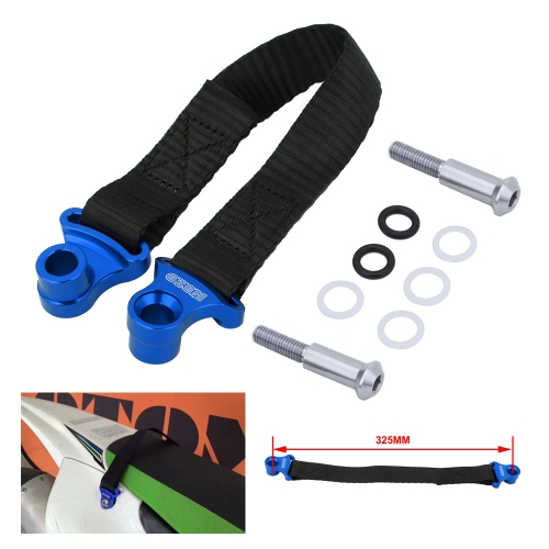 Motorcycle Blue 325MM Rear Rescue Harness Pulling Strap for YAMAHA YZ250F YZ450F YZF250 YZF450 2014 2015 2016 2017 2018 2019 Dirt Bike