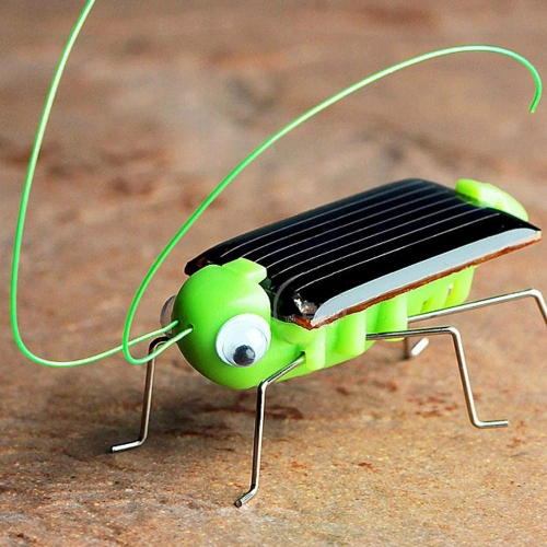 Solar Grasshopper Educational Solar Powered Grasshopper Robot Toy Required Gadget Gift Solar Toy No batteries for kids