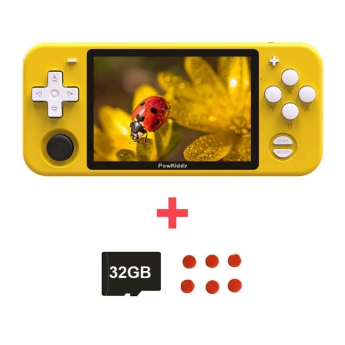 Powkiddy RGB10 Retro Game Console Handheld Game Player with 32GB TF Card 4000 Games 3.5inch IPS Screen Portable Pocket Handheld Game Player