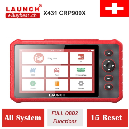 Launch X431 CRP909X Obd2 Scanner Full Systems Auto Code Reader Wifi Diagnostic Tool OBDII EOBD Automotive Tool