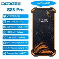 DOOGEE S88 Pro 6.3 '' IP68 / IP69K Android 10 Helio P70 Octa Core 6GB RAM 128GB ROM Robust phone 10000 mAh battery quick charge NFC