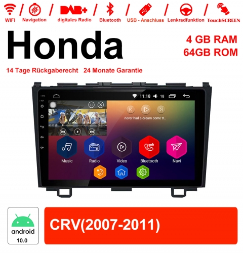9 inch Android 10.0 Car Radio / Multimedia 4GB RAM 64GB ROM For Honda CRV With WiFi NAVI Bluetooth USB