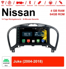 8 inch Android 10.0 Car Radio / Multimedia 4GB RAM 64GB ROM For Nissan Juke 2004-2018 With WiFi NAVI Bluetooth USB