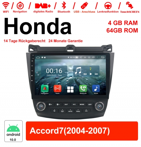 10.1 inch Android 10.0 Car Radio / Multimedia 4GB RAM 64GB ROM For Honda Accord7 With WiFi NAVI Bluetooth USB