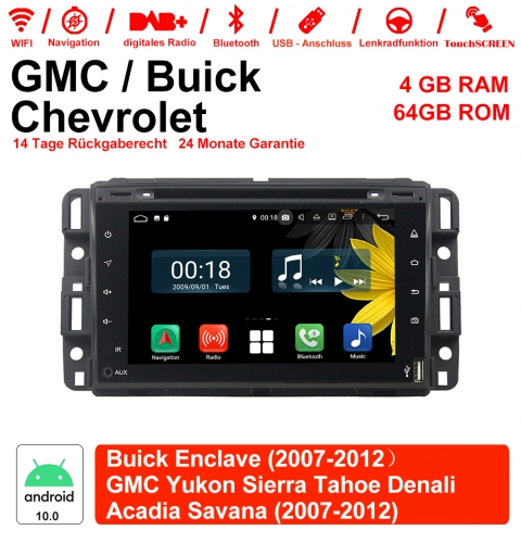 7 inch Android 10.0 car radio / multimedia 4GB RAM 64GB ROM for GMC Sierra Yukon Savana Denali / Buick Enclave with WiFi NAVI Bluetooth USB