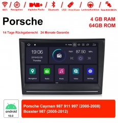 8 Inch Android 10.0 Car Radio / Multimedia 4GB RAM 64GB ROM For Porsche Cayman 987 911 997 Boxster 987 With WiFi NAVI Bluetooth USB