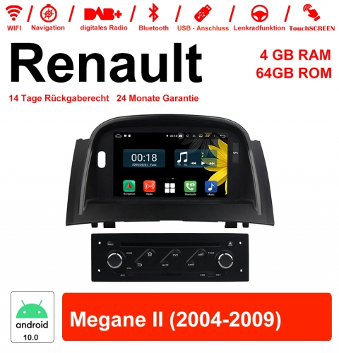 7 inch Android 10.0 car radio / multimedia 4GB RAM 64GB ROM For RENAULT Megane II With WiFi NAVI Bluetooth USB