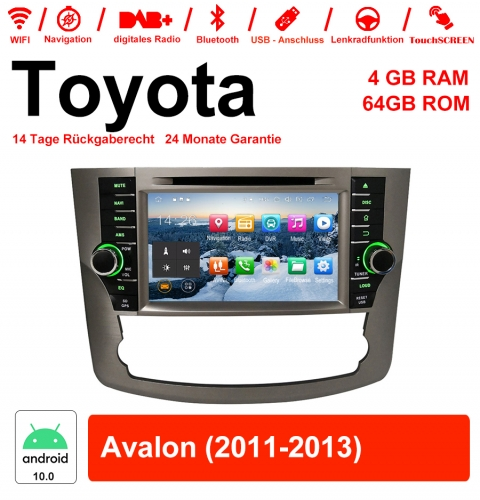 8 inch Android 10.0 car radio / multimedia 4GB RAM 64GB ROM for Toyota Avalon 2011-2013 with WiFi NAVI Bluetooth USB