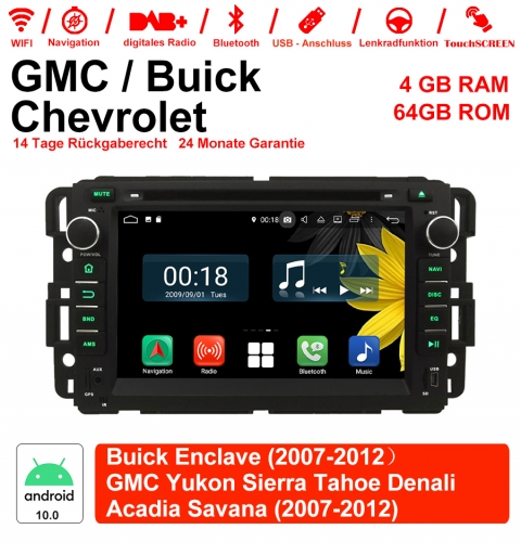 7 inch Android 10.0 car radio / multimedia 4GB RAM 64GB ROM For GMC sierra Yukon Savana Denali / Buick Enclave / Chevrolet HHR Tahoe ... With WiFi