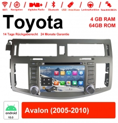 8 inch Android 10.0 car radio / multimedia 4GB RAM 64GB ROM for Toyota Avalon 2005-2010 with WiFi NAVI Bluetooth USB
