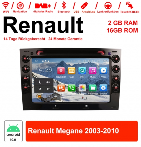 7 inch Android 10.0 Car Radio / Multimedia 2GB RAM 16GB ROM For Renaults Megane