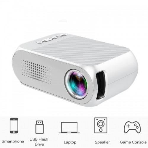 YG320 Mini-LED-Projector 600 Lumen 320 x 240 Pixel HDMI USB Audio Home Media Player Beamer
