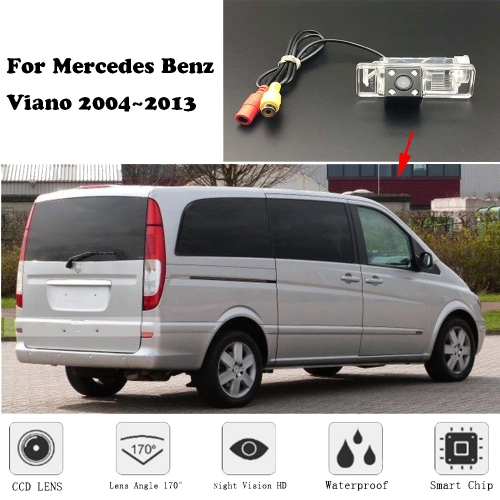 Backup Rear View Camera For Mercedes Benz Sprinter 906 Viano W639 Vito W638 W639 Night Vision / License plate camera