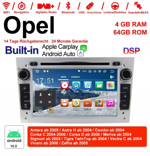 "7"" Android 10.0 car radio / multimedia 4GB RAM 64GB ROM For Opel Astra Vectra Antara Zafira Corsa WITH the built-in DSP Carplay / Android Auto"