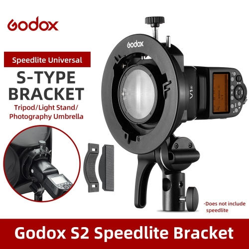 Godox S2 Bowens Mount-S-type Holder Bracket for Godox V1 V860II AD200 AD400PRO Speedlite Flash Snoot Softbox