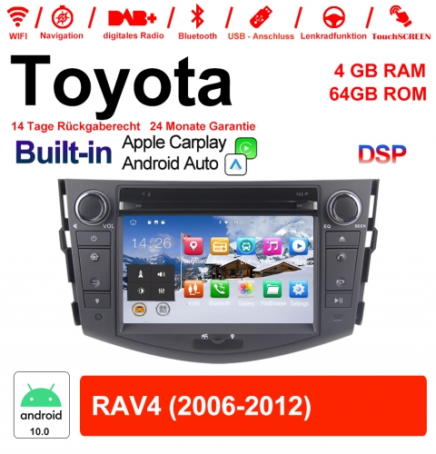 7 Inch Android 10.0 Car Radio / Multimedia 4GB RAM 64GB ROM For Toyota RAV4 With WiFi NAVI Bluetooth USB Built-in Carplay / Android Auto