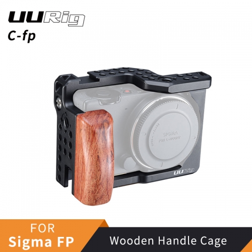UURig C-fp Exclusive Metal Cage For Sigma FP Wooded Handle Rig Cold Shoe Bracket for Microphone LED Light DSRL Camera Accessories
