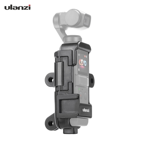 Ulanzi OP-7 Multifunctional Vlog Extended Housing Case for DJI Osmo Pocket with Microphone Cold Shoe Mount 1/4 Inch Screw Mount 3 Camera Adapter