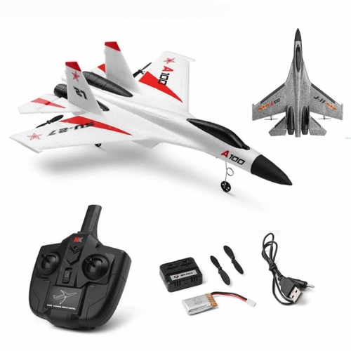 Wltoys XK A100-SU27 A100-J-11 RC Airplane 2.4G 340mm 3CH Airplane Fixed Wing Airplanes Outdoor RC Toys Flying Remote Control Plane Kids Gift