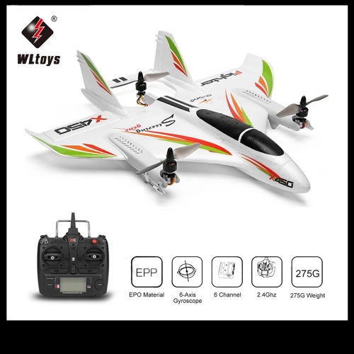 WLtoys XK X450 2.4G 6CH 3D / 6G RC Airplane Brushless Motor Vertical Take-off LED Light RC Glider Fixed Wing RC Airplane RTF