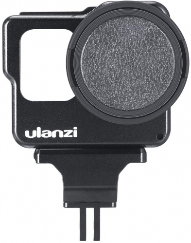 ULANZI V3 Camera Cage with 2 Cold Shoes 52mm Filter Interface Compatible with GoPro Hero 7/6/5