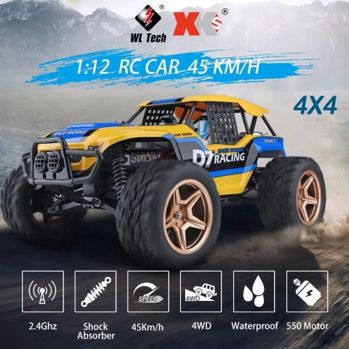 Wltoys 12402a 1/12 4WD 2.4G RC Car Vehicle Models High Speed 45km / h Remote Control Car Adults Off-road Truck Vehicle Toys 12402-a