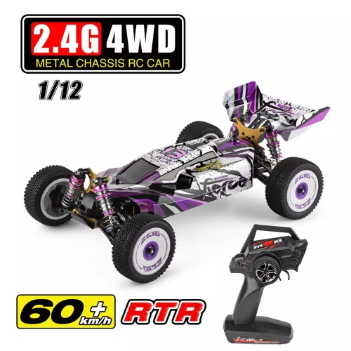 Wltoys 124019 RTR 1/12 2.4G 4WD 60km / h Metal Chassis RC Car 550 Brushed Motor Off-Road Climbing Trucks Vehicles Models Kids Toys