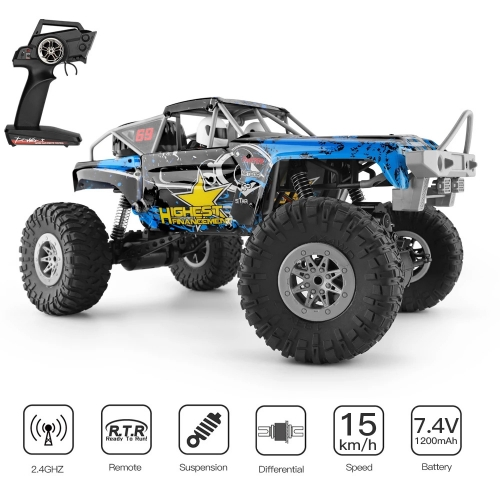 Wltoys 104310 RC Car 1/10 Climbing Car 4WD Dual Motor RC Buggy Off Road 2.4G Remote Control Car Gift Toys for Children RTR