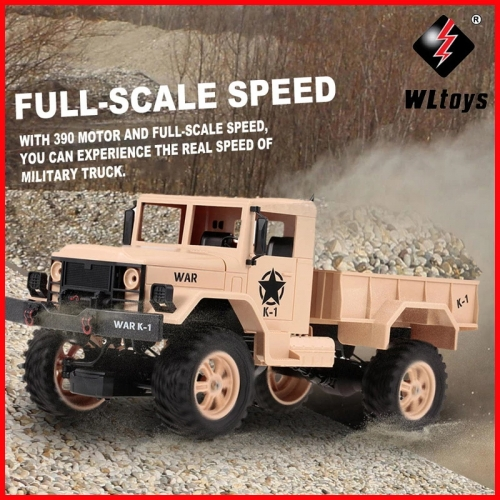 WLtoys 124302 1:12 RC Car 2.4GHz 4WD Full-Scale Speed 1200G Load Military Off-road RC Car for Beginners Toys for Children