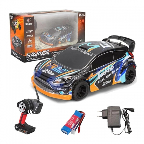 WLtoys A242 Remote Control Racing Car 1/24 4WD 2.4G Remote Control Racing Desert Off-road Drift Car Rally Auto Speed Max 35km / h