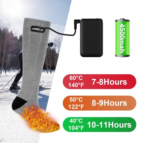 Heating Sock Three Modes Elastic Comfortable Waterproof Electric Warm Socks Set