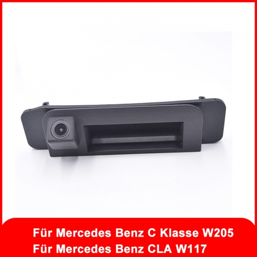 1080P Car HD Luggage Handle Camera for Mercedes Benz C Class W205 CLA W117 Reversing Rearview Camera Night Vision Camera
