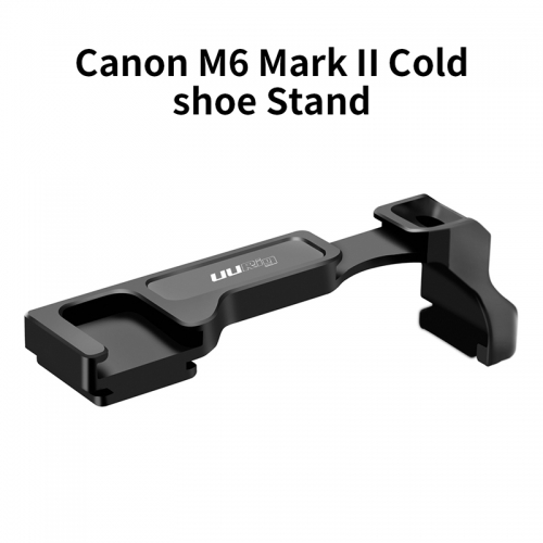 UURig R038 Cold Shoe Bracket Extend Cold Shoe Mount Microphone Fill Light for Canon M6 Mark II DSLR Camera Accessories