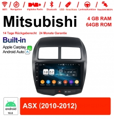 10.1 Inch Android 10.0 Car Radio / Multimedia 4GB RAM 64GB ROM For Mitsubishi ASX 2010-2012 With WiFi NAVI Bluetooth Built-in CarPlay / Android Auto