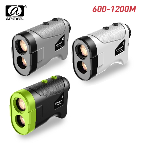 APEXEL 600M 800M 1200M Golf Laser Rangefinder Mini Golf Slope Set Mode Sport Laser Distance Meter Rangefinder for Hunting