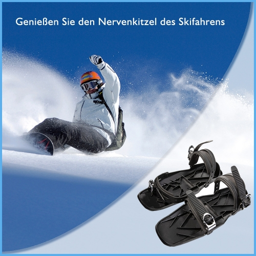Mini Portable Ski Skates Snow Shoes Adjustable