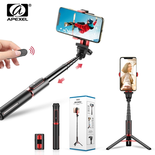APEXEL Stabilizer Selfie Stick Smartphone Tripod Phone Holder with Bluetooth Selfie Remote Control for iPhone Android Phones