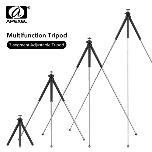 APEXEL Professional Expandable Flexible SLR Tripod 360 Rotation Vertical Shooting Phone Tripod Holder for Gopro Sony Nikon Phone