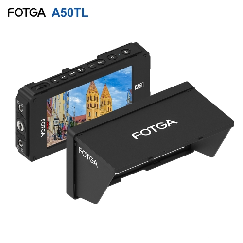 FOTGA A50TL 5 Inch FHD IPS Vedio Monitor On-Camera Field Monitor 1920 * 1080 Touchscreen Dual NP-F Battery Plate for 5D III IV A7 A7R A7S II III GH5