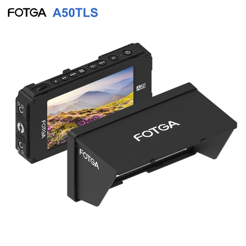 FOTGA A50TLS 5 Inch FHD Video On-Camera Monitor for A7S II GH5 IPS Touchscreen HDMI Input / Output 3D LUT Dual NP-F Battery Plate