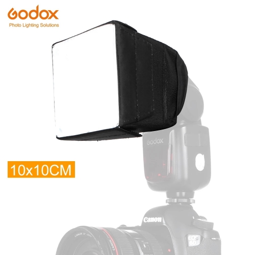 GODOX SB1010 10 * 10 cm Softbox Universal Folding Speedlight Softbox Flash Diffuser Camera Speedlite