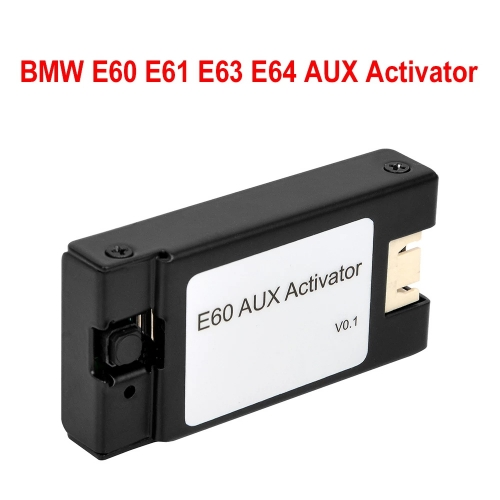 For BMW E60 E61 E63 E64 AUX Activator Open the original car without aux