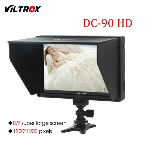 Viltrox DC-90HD 8.9'' Camera Video Monitor Display Clip-on IPS LCD HDMI AV Input 1920x1200 Pixel for Canon Nikon Sony DSLR BMPC