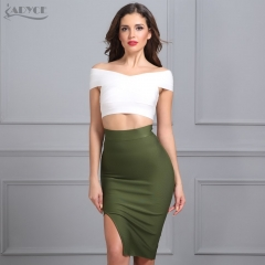 ADYCE Sexy Women Bodycon Party Bandage Skirt  Khaki Green Black Blue Red Yellow Pink Skirts Sexy Lady Cocktail Party Skirt