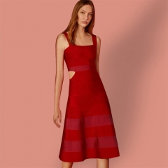 ADYCE New Bodycon Bandage Dress Women Vestidos Verano Sexy Red Spaghetti Strap Sexy Lady Celebrity Party Club Dress