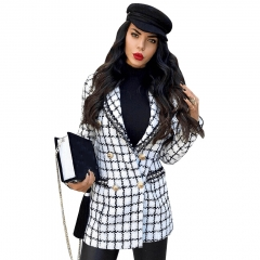 Adyce 2019 New Spring Women Slim Trench Coat Sexy White Deep V Neck Long Sleeve Plaid Beading Celebrity Party Club Coat Trench