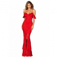 Adyce 2019 New Summer Women Bandage Dress Sexy Lace Sleeveless Spaghetti Strap Dress Vestidos Long Celebrity Evening Party Dress