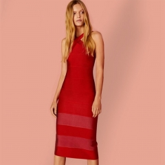ADYCE New Bodycon Bandage Dress Women Vestidos Verano Sexy Red Halter Spaghetti Strap Sexy Lady Celebrity Party Club Dress