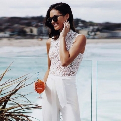 Adyce New Summer Women Jumpsuit Rompers Vestidos Verano 2019 Elegant Lace Sexy Sleeveless Celebrity Night Club Party Jumpsuits